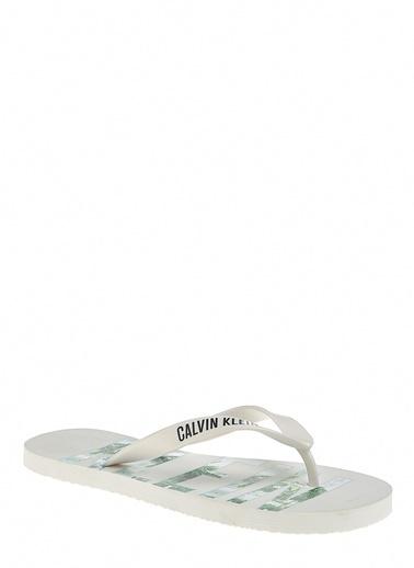Calvin Klein Plaj Terliği Beyaz